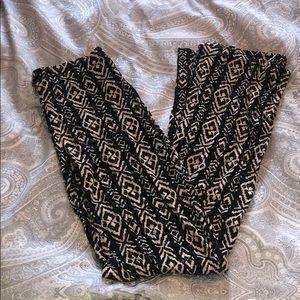 Pants - Stretch flare festival pattern pants
